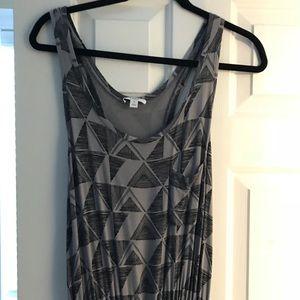 Gray and Black Maxi Dress EUC